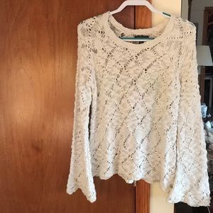 Kendall & Kylie crochet sweater with bell sleeves